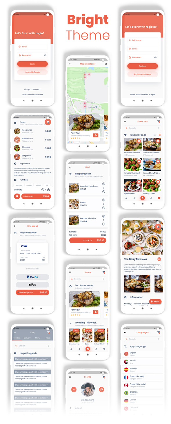 Food Delivery Flutter + PHP Laravel Admin Panel - 15